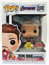 Funko Pop Iron Man I am Iron Man Glow # 580 Avengers Endgame Vinyl Figure New