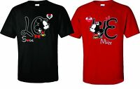 Mickey and Minnie Disney Soul Mate couple matching funny cute T-Shirts love new