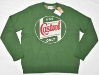 Lucky Brand Sweater Men's Castrol Only Cotton Knit Crew Neck Sweater Green N843