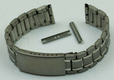 Titanium watch bracelet 18mm - 22mm file fit strap band safety buckle mens new