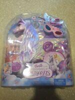 """Barbie and the Magic of Pegasus """"Brietta"""" Pegasus Purple Pink Horse Toy NEW RARE"""