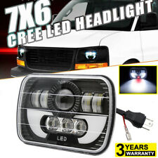 7x6 CREE LED Headlight Headlamp For Chevy Express Cargo Van 1500 2500 3500 Truck