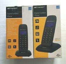 2 x Emerson Digital Cordless Phone DECT 6.0 Hands-free Handset Expandable EM7000