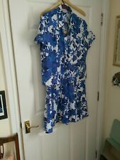 CC (Country Casuals) Blue & White Linen Skirt & Top, Size 16