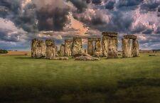 England Historic Monument STONEHENGE Glossy 8x10 Photo Print Wall Art Poster