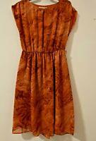 MICHAEL KORS, Floaty Burnt Orange  Dress P/S Sz8-10 Preowned Excellent Condition