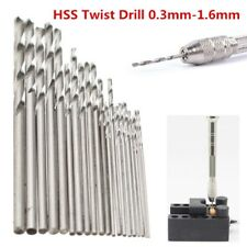 20Pcs Titanium Coated HSS High Speed Steel Twist Drill Bit Set Tool  0.3-1.6mm