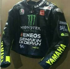 YAMAHA RACING BIKER LEATHER JACKET CE APPROVED