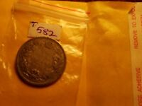 1902 H Canada 25 Cents Silver Coin ID#T582.