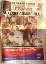 L'Equipe Journal 25/8/2001; Boulami Record/ Auxerre comme neuf, Cissé 4 buts