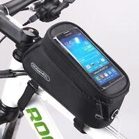 Bicycle Roswheel Phone Saddle Bag / Handlebar Bike touchscreen phone bag / Black