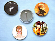 David Bowie-Set 1 Of Four  Badges Mott The Hoople T.Rex Mick Ronson Roxy Music