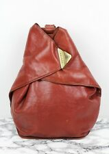 TEXIER Vintage Tan Brown Leather Backpack/Rucksack Shoulder Bag