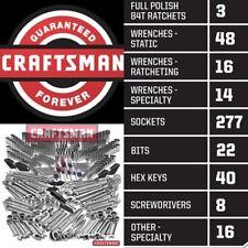 Craftsman 444 Pc Mechanics Tool Set Universal SAE Metric Ratchet Socket Kit New