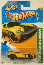 2012 Hot Wheels Yellow Ford Shelby GR-1 Concept Treasure Hunt 61/247