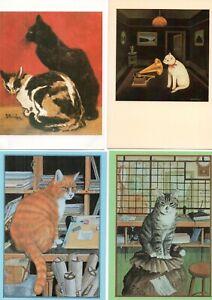 29 ART postcards:  CATS & KITTENS