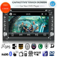 "6.2"" Double 2Din Car Stereo DVD Player GPS Navi Bluetooth FM Radio iPod +Camera"