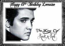 Personalised birthday card Elvis Presley mum dad son  sister brother daughter a