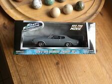 Chevrolet chevelle ss 1970 fast&furious dom toretto greenlight1/43