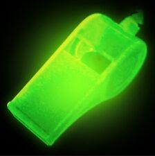 Light Reactive/UV Light Glow in the Dark Rave Whistle on Cord Lanyard - V. LOUD!