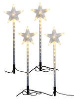 4 Meteor Star Stake Lights Christmas 72 LED Outdoor Garden Decoration Light Up