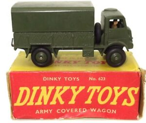 DINKY NO. 623 BEDFORD ARMY COVERED WAGON - MINT BOXED