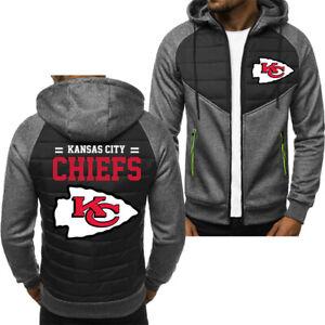 Kansas City Chiefs Hoodie Classic Autumn Hooded Sweatshirt Jacket Coat Top Tops