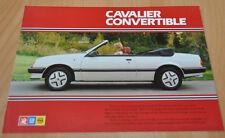 Vauxhall Cavalier Convertible Opel Ascona Brochure Prospekt