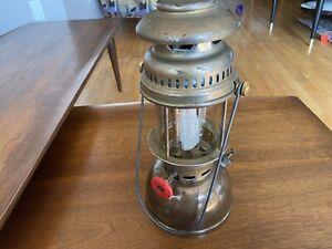 Vintage Compact Optimus 200 P Brass Lantern Schott Glass Germany w/mantle