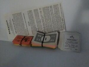 Vintage 1961 Monopoly Game Pieces - Money, Title Deeds, Chance & Community ch.