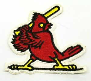 "Vintage ST LOUIS CARDINALS Patch OLD STYLE Fully Embroidered 3.75"" x 4"" NOS"