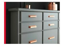 Brushed Copper Pearl Finger Pull Cup Handle - Kitchen Cabinet Cupboard Door