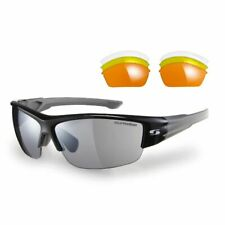 Sunwise Evenlode Black Sports Sunglasses with 4 Interchangeable Lenses