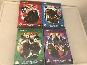 Dr Who DVDs, Christopher Ecclestone & Billie Piper Series 1 Volumes 1-4