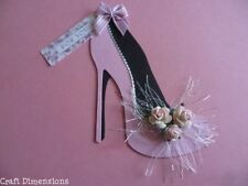 HIGH HEELED FASHION SHOE DIE CUTS FOR CARD TOPPERS