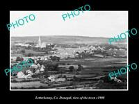 OLD LARGE HISTORIC PHOTO OF LETTERKENNY IRELAND, VIEW OF THE TOWN c1900