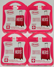 Lot of 4 Boss Hotel Hers Personal Care Kits - Travel Vacation Grooming Products