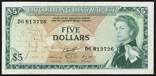 Ost caribe/East Caribbean 5 dollars (1965) pick 14h (3+)