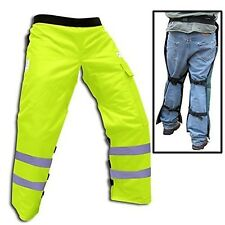"Forester Chainsaw Safety Chaps with Pocket, Apron Style (Long 40"", Safety Green)"