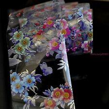 Nail Art Transfer Foil Print Sticker DIY Tips Toes Decor Purple Love Flower G118