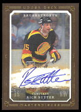 2008-09 UD MASTERPIECES BRUSHSTROKES RICH SUTTER SIGNATURE AUTO SIGNED CANUCKS