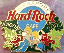 Hard Rock Cafe SINGAPORE 2000 Valentine's Day PIN Angels & Roses - HRC #8800