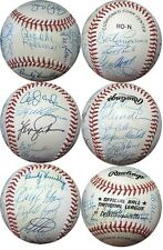 NY Mets Old Timers Team Signed Baseball B. Robinson, Jones, Staub 25 Autos COA