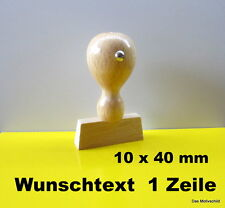 Holzstempel,mit Textplatte,10 x 40 mm,1 - 2 Zeilen,Firmenstempel,,Adressstempel