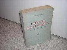 1945.l'oeuvre de Stendhal / Henri Martineau.envoi autographe.n°