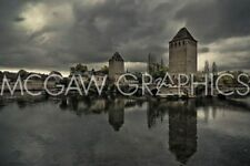 FRENCH LANDSCAPE ART PRINT The Medieval Bridge Ponts Couverts Sabri Irmak