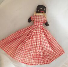 Antique Black Americana Mammy Doll Smiley Face Red Gingham Toaster Cover TeaCozy