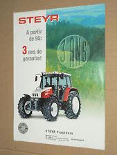 Prospectus Tracteur STEYR 3 Ans   brochure  trattore tractor traktor prospekt
