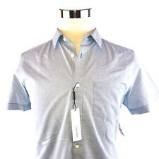 Calvin Klein Dobby Short Sleeve Button Front sport Shirt Mens Medium NWT