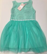 NEW FUNKY BABE Girls Pink Tutu Dress Lace  Flower Girl Outfit Size 3
